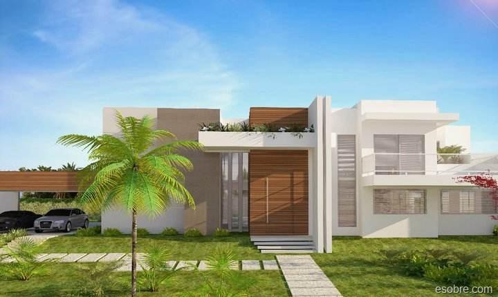 Casas modernas fachadas e plantas for Fachadas modernas para casas pequenas de una planta