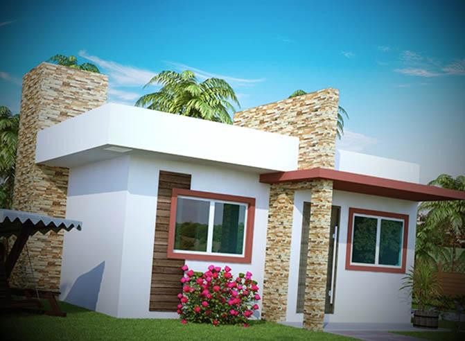 12 fachadas de casas pequenas for Modelos de casas minimalistas pequenas
