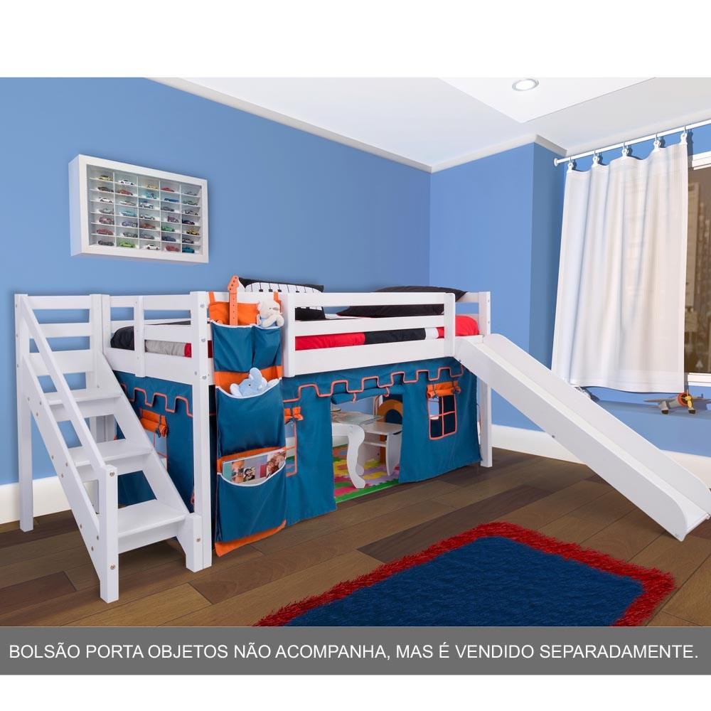Cama infantil com escada - Dosel para cama infantil ...