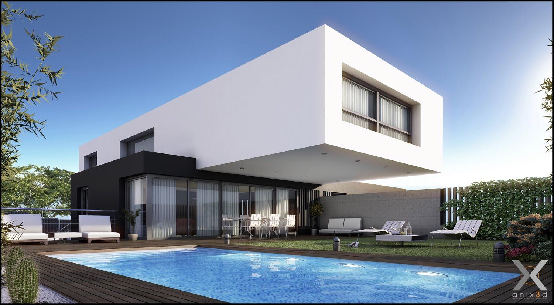 Casas modernas fachadas plantas e projetos for Construir casas modernas