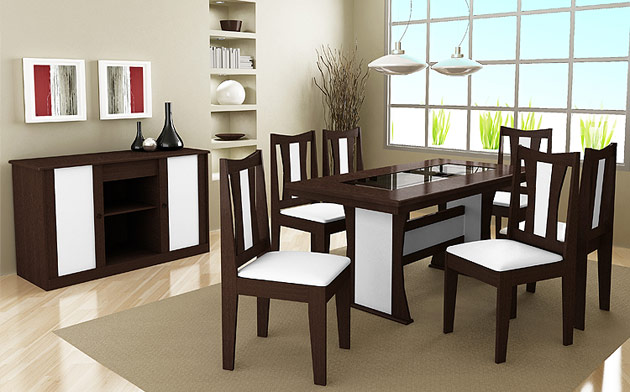 fotos salas jantar planejadas