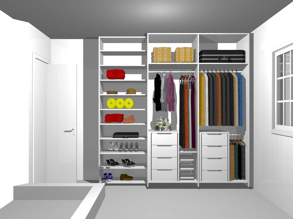 guarda roupa planejado pequeno