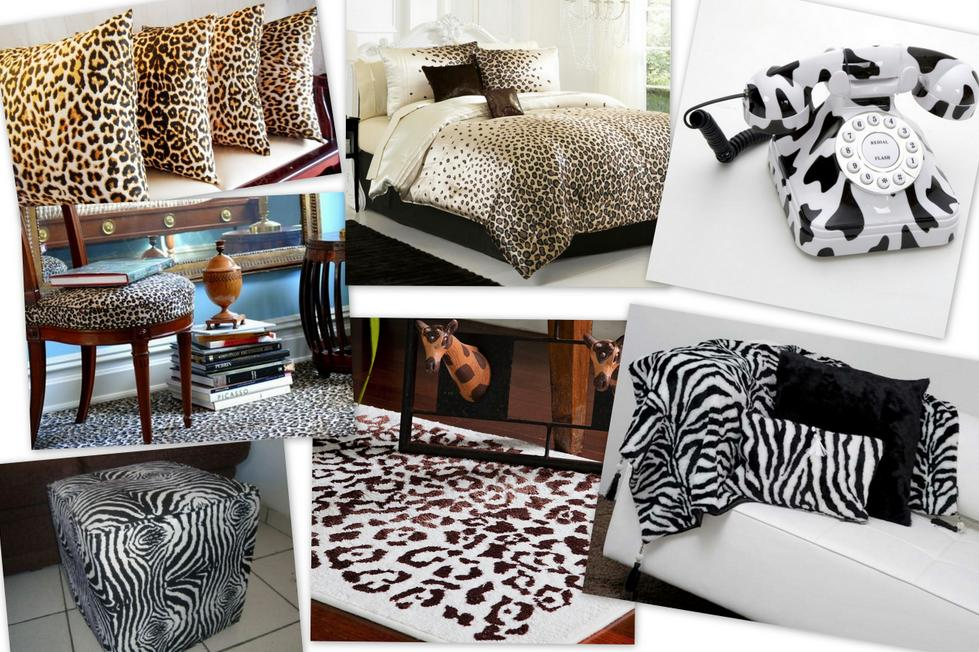 ideias animal print decoracao