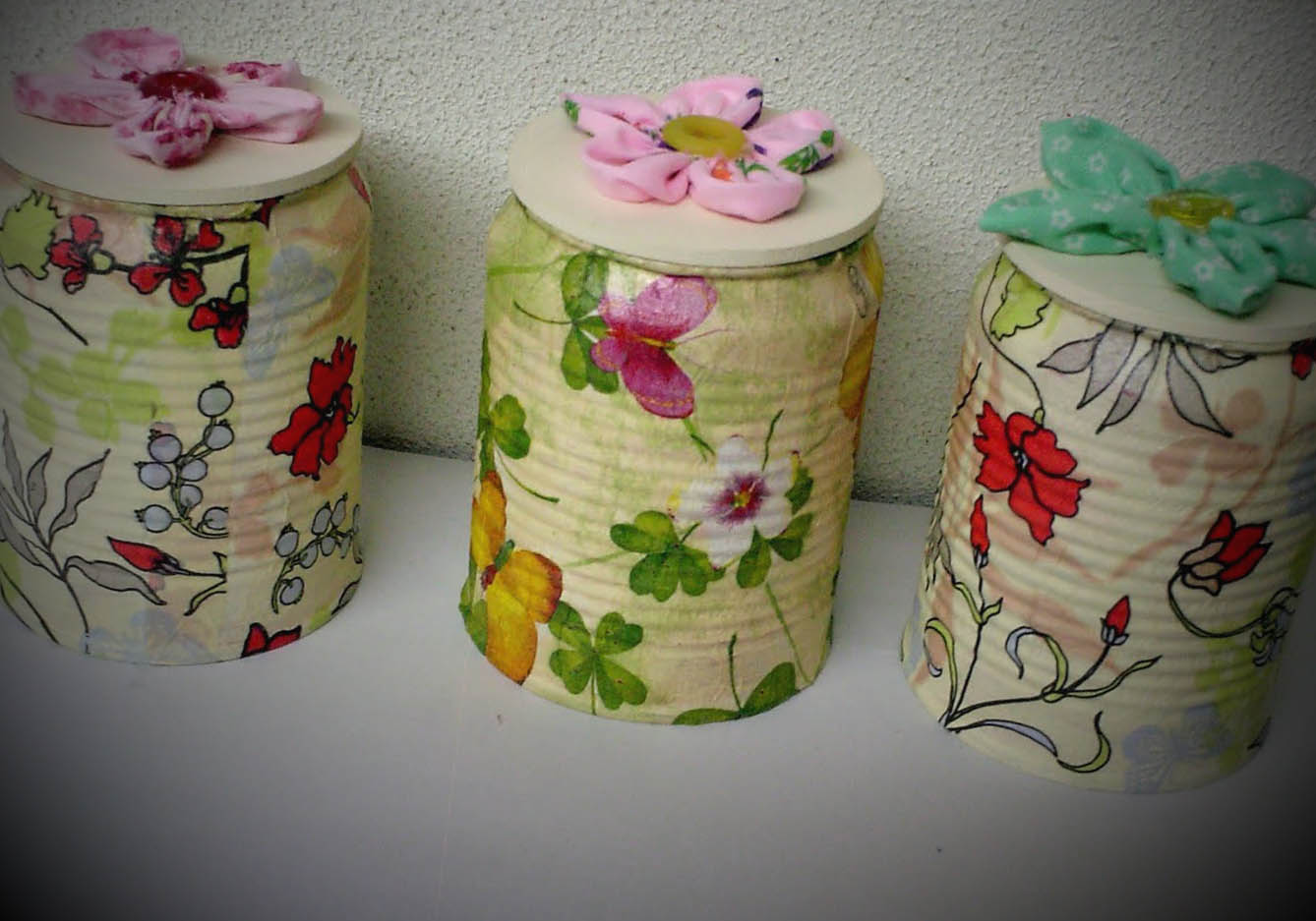 ideias latas decoradas