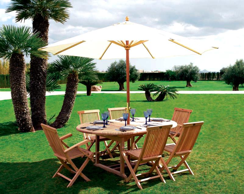 ideias jardim exterior:Móveis para jardim de madeira