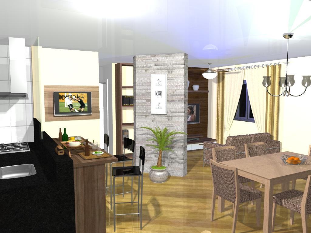 Quinta Da Decora O Decora O De Sala Conjugada Blog Apolar -> Cozinha Com Sala Conjugada