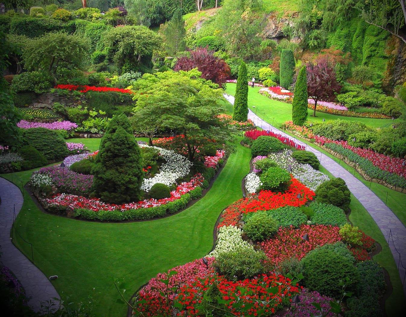 Imagens de Jardins Decorados -> Decoração De Jardins Pequenos Com Flores