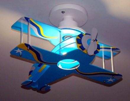 luminaria aviao biplano para decoracao de quarto infantil bebe