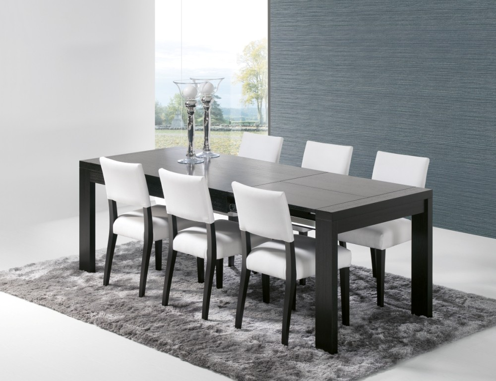 mesa de sala prestige tampo de madeira