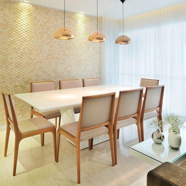mesa sala jantar branca