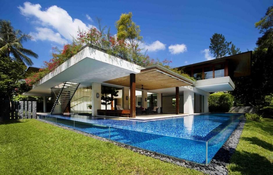 moderna casa com piscina
