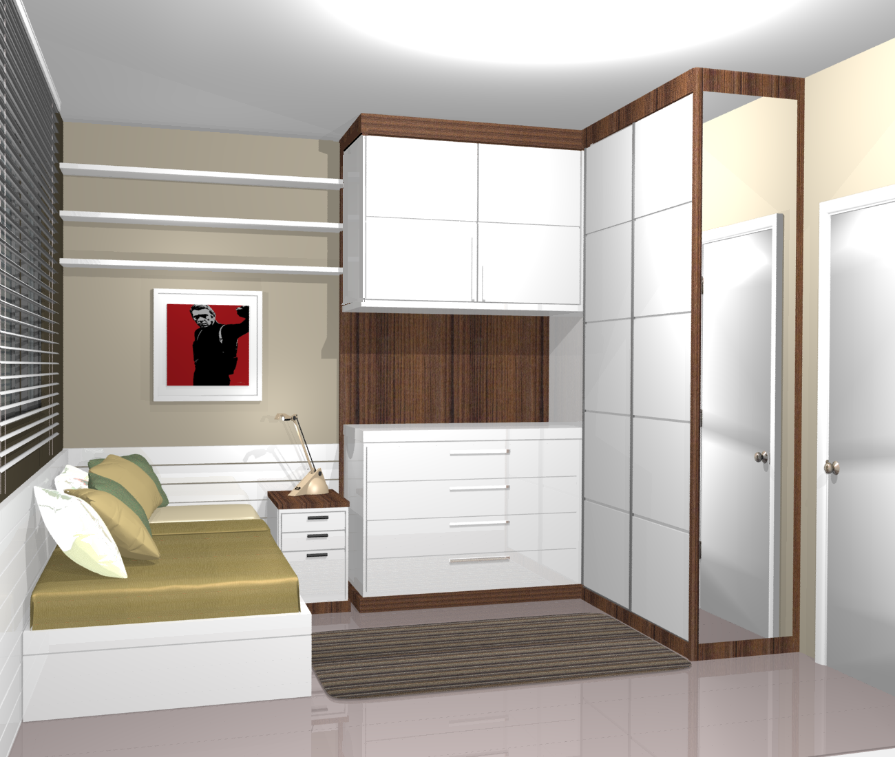Moveis planejados para apartamentos ~ Quarto Planejada Para Apartamento
