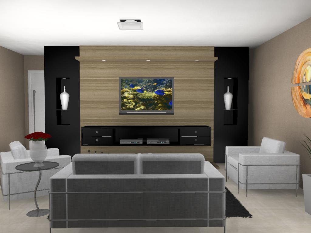 movel tv com cor neutra