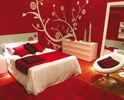 Decoração do quarto com papel de parede
