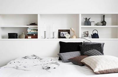 prateleiras quarto minimalista