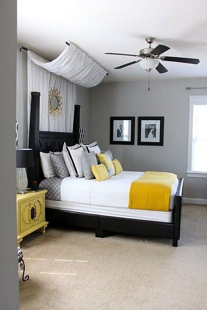 quarto de dormir amarelo