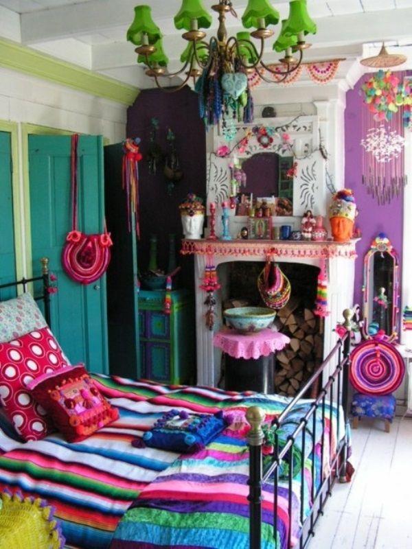 quarto decorado hippie 17