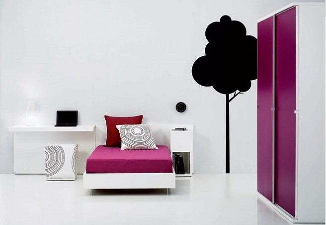 quarto rapariga minimalista Dicas de decoração de quarto duma adolescente