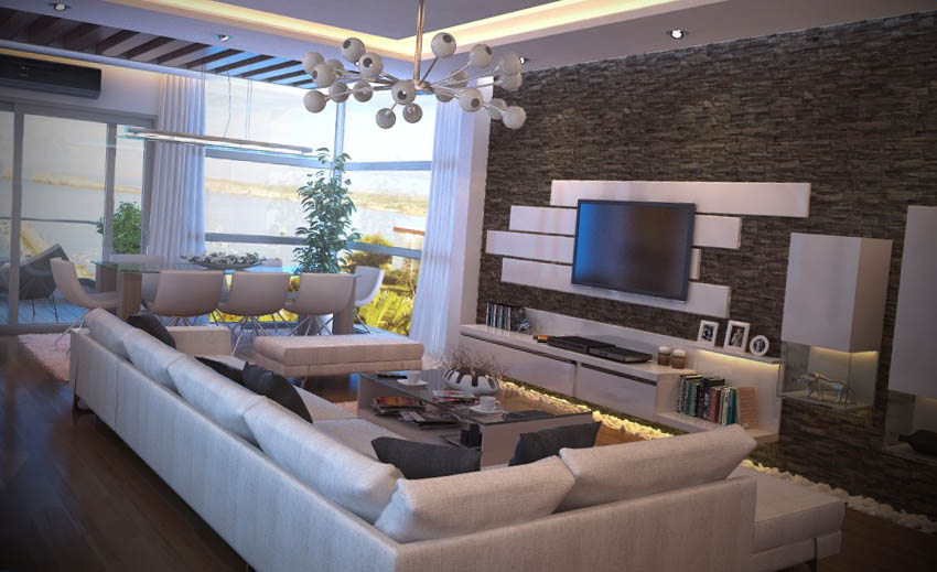 Sala De Star Com Tv ~ Fotos de Salas de Estar Moderna