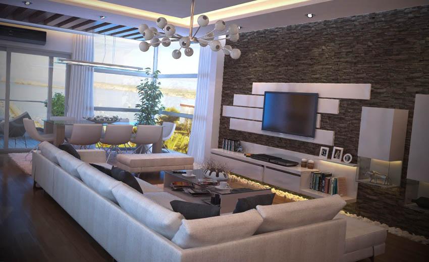 fotos de salas de estar moderna
