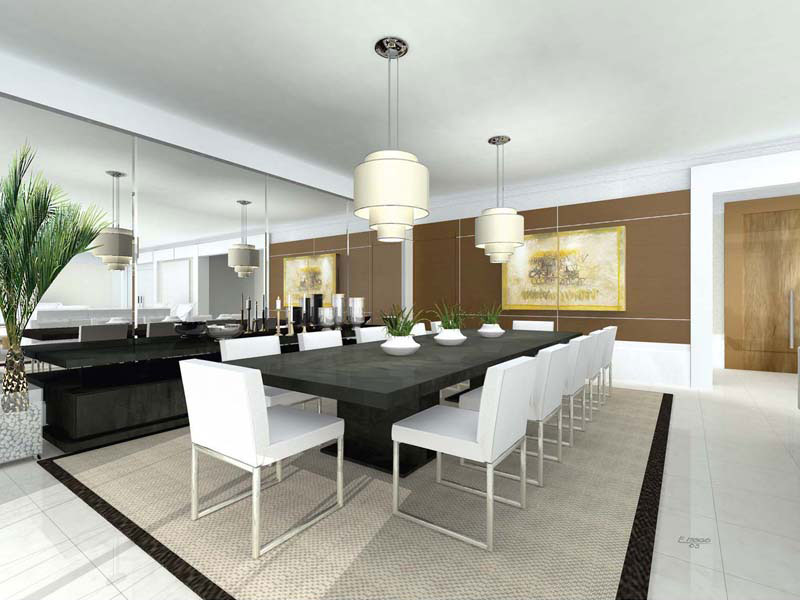 Sala de Jantar Sala-de-jantar-de-luxo