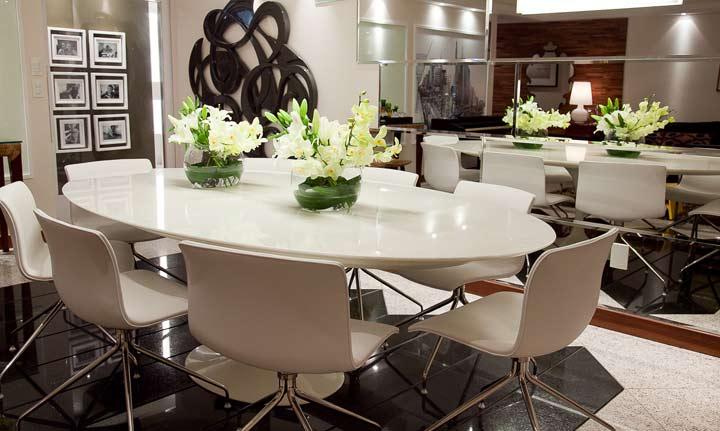 sala de jantar oval