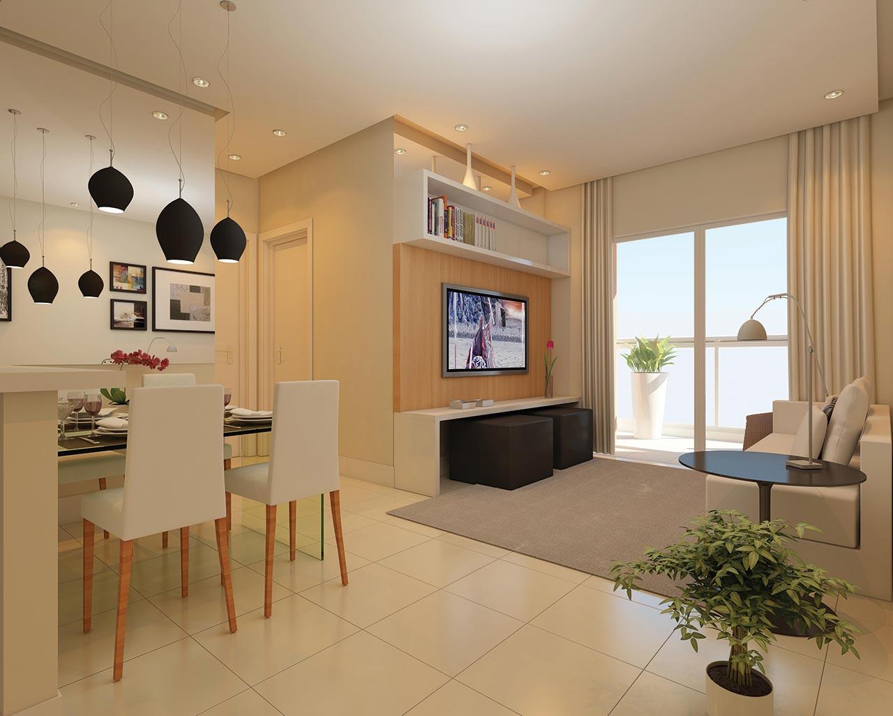 conjugadas são espaços que unem a sala de jantar à sala de estar e  #70492B 1280 1026
