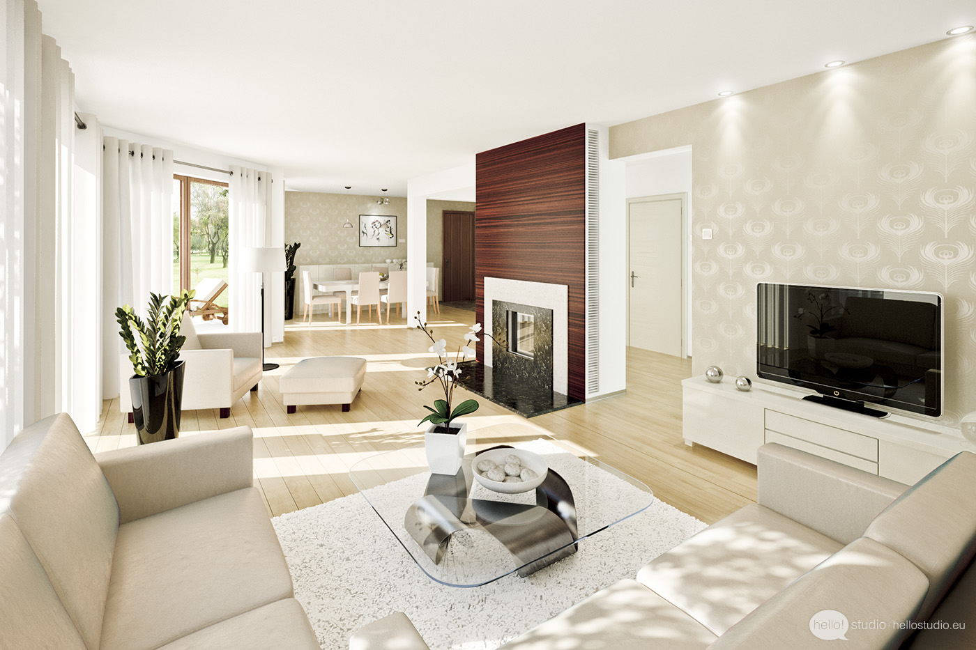 Fotos de salas decoradas : salas decoradas grandes from www.dicasdecoracao.com size 1400 x 933 jpeg 288kB