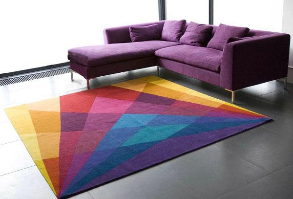 tapetes-coloridos-para-sala-fotos